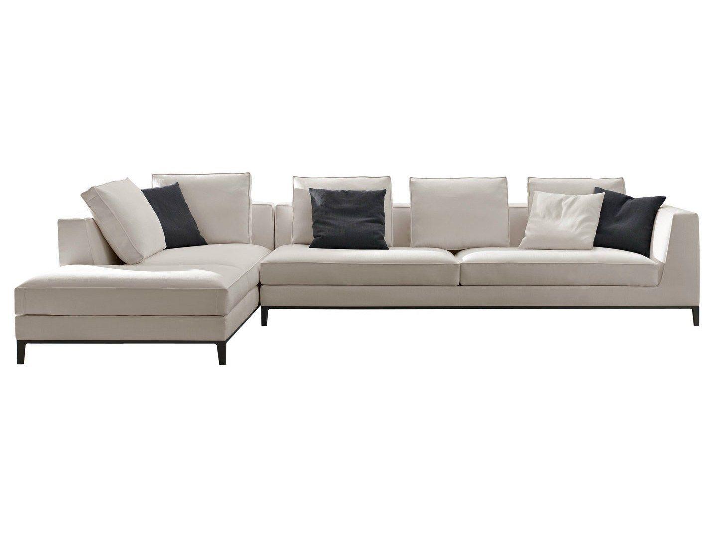 Corner sectional fabric sofa lucrezia by maxalto a brand for B b italia spa