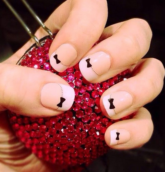 French tip bows by jamberry! get your own at http://kstueve ...