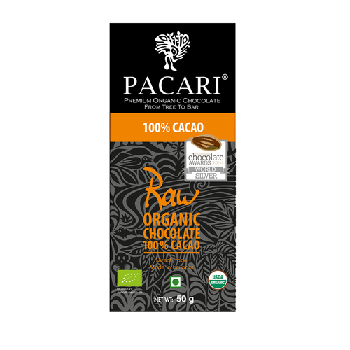 Pacari 100 cacao sugar free organic dark chocolate 50g pacari 100 cacao sugar free organic dark chocolate 50g negle Image collections