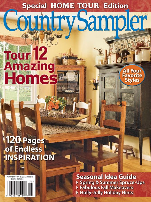 2017 Home Tours Country Sampler One Of Few Decor Magazines Left
