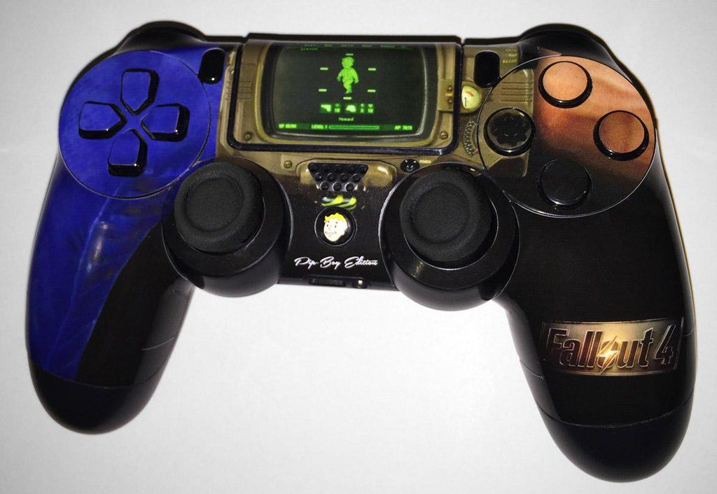 These Fallout 4 Ps4 Xbox One Controllers Are A Wastelander S Dream Ps4 Dualshock Controller Ps4 Accessories Fallout 4 Xbox One