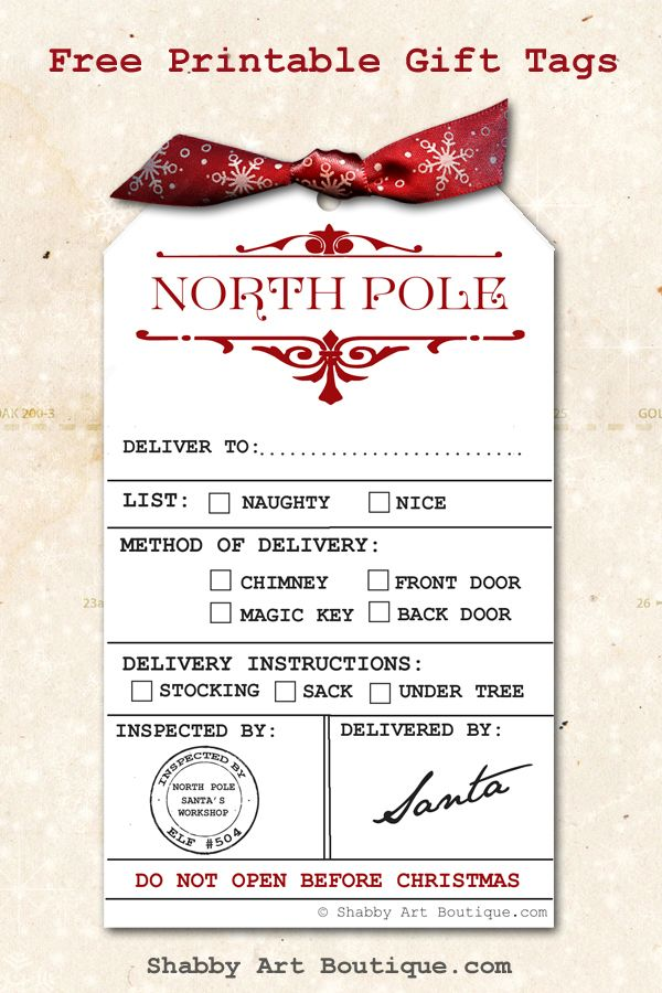 Santa delivery tag printable freebie and 2017 vintage calendar and santa delivery tag printable freebie and 2017 vintage calendar and planner free printable christmas gift tags printable christmas gift tags and free negle Images