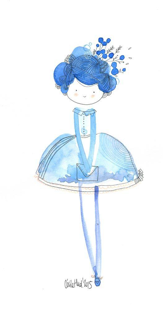 doll in blue, Cécile Hudrisier