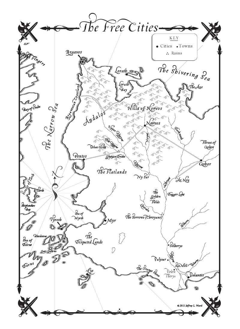 another map | A dance with dragons, Game of thrones map ...