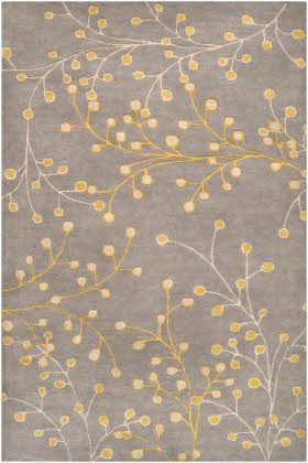 Surya Athena Gray Yellow Area Rugs