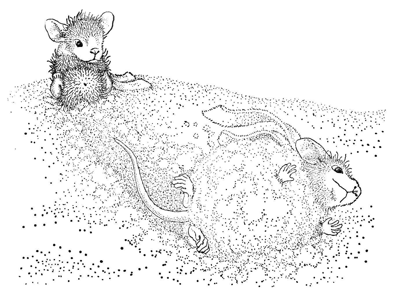 HM - Mice Snowball | I Love to Color | Pinterest | Malbücher ...