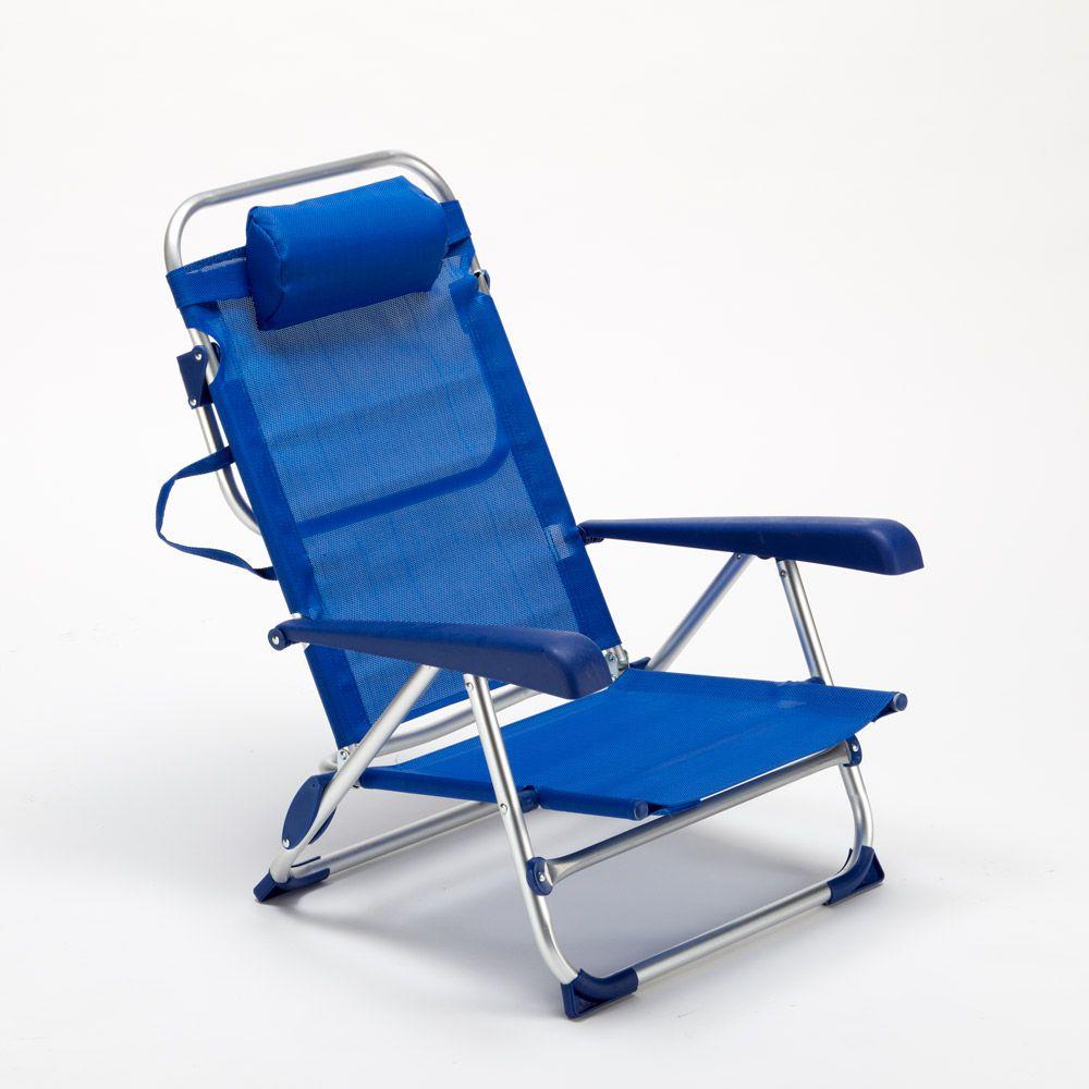 Sedie Sdraio Pieghevoli Alluminio.Sedia Sdraio Spiaggina Con Braccioli Pieghevole Design Gargano Nel
