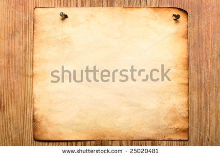 Old paper attached to wooden wall, may be used as background by Roman Sigaev, via ShutterStock #25020481