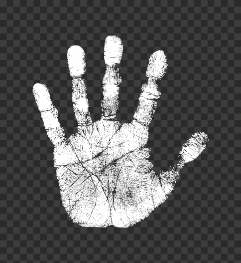 Hd White Stop Hand Print Sign Png Print Png Signs