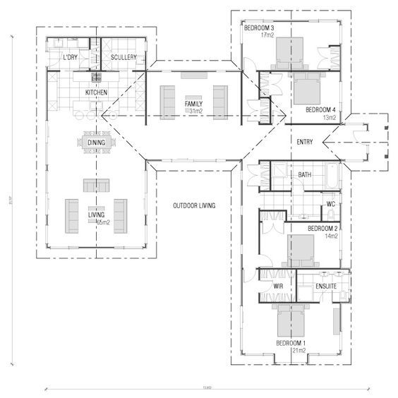 Pin By Cyprian Chesire On House Plans House Plans House Floor Plans Home Design Plans House floor plan nz