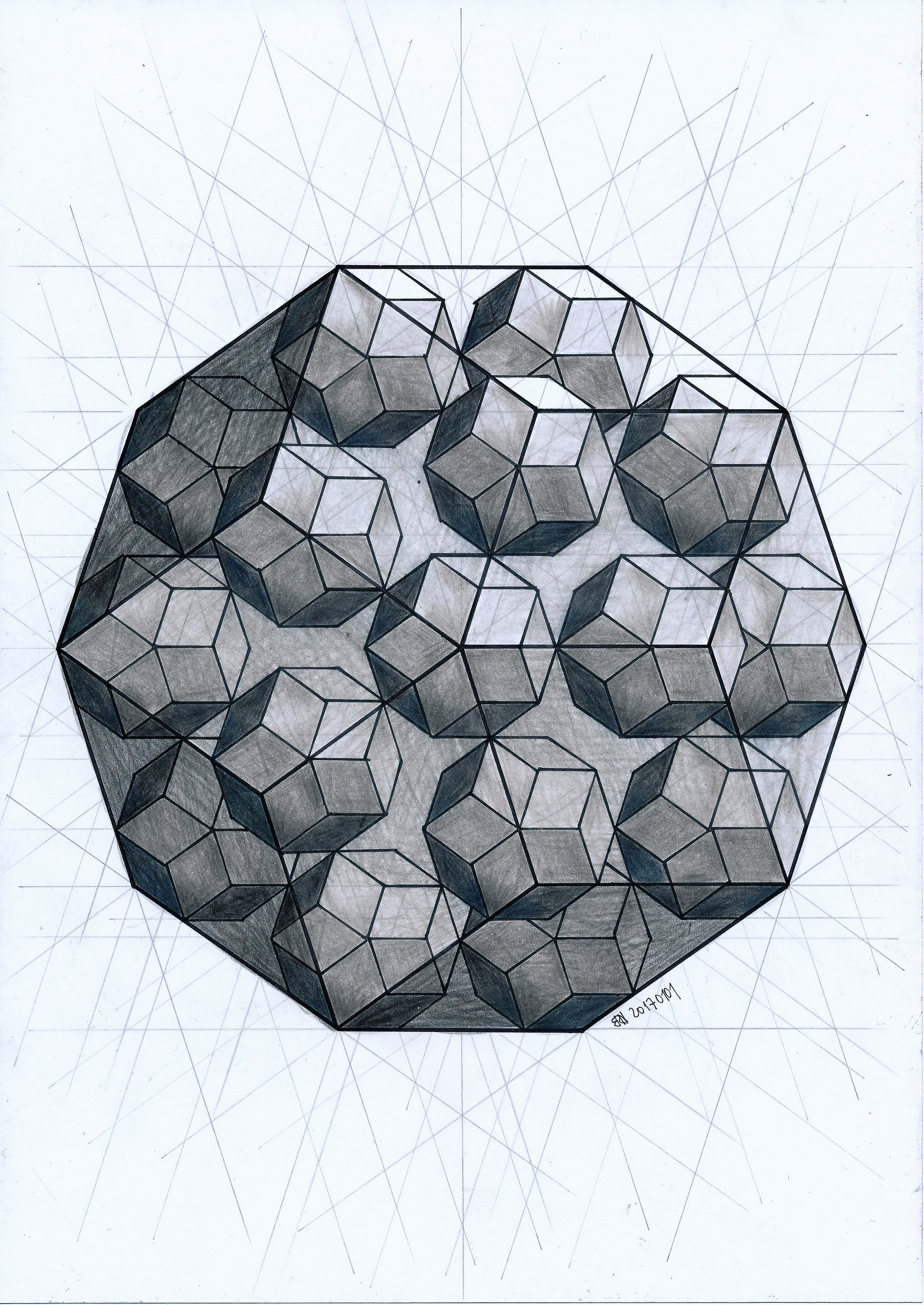 Polyhedron Solid Geometry Symmetry Pentagon Penrose