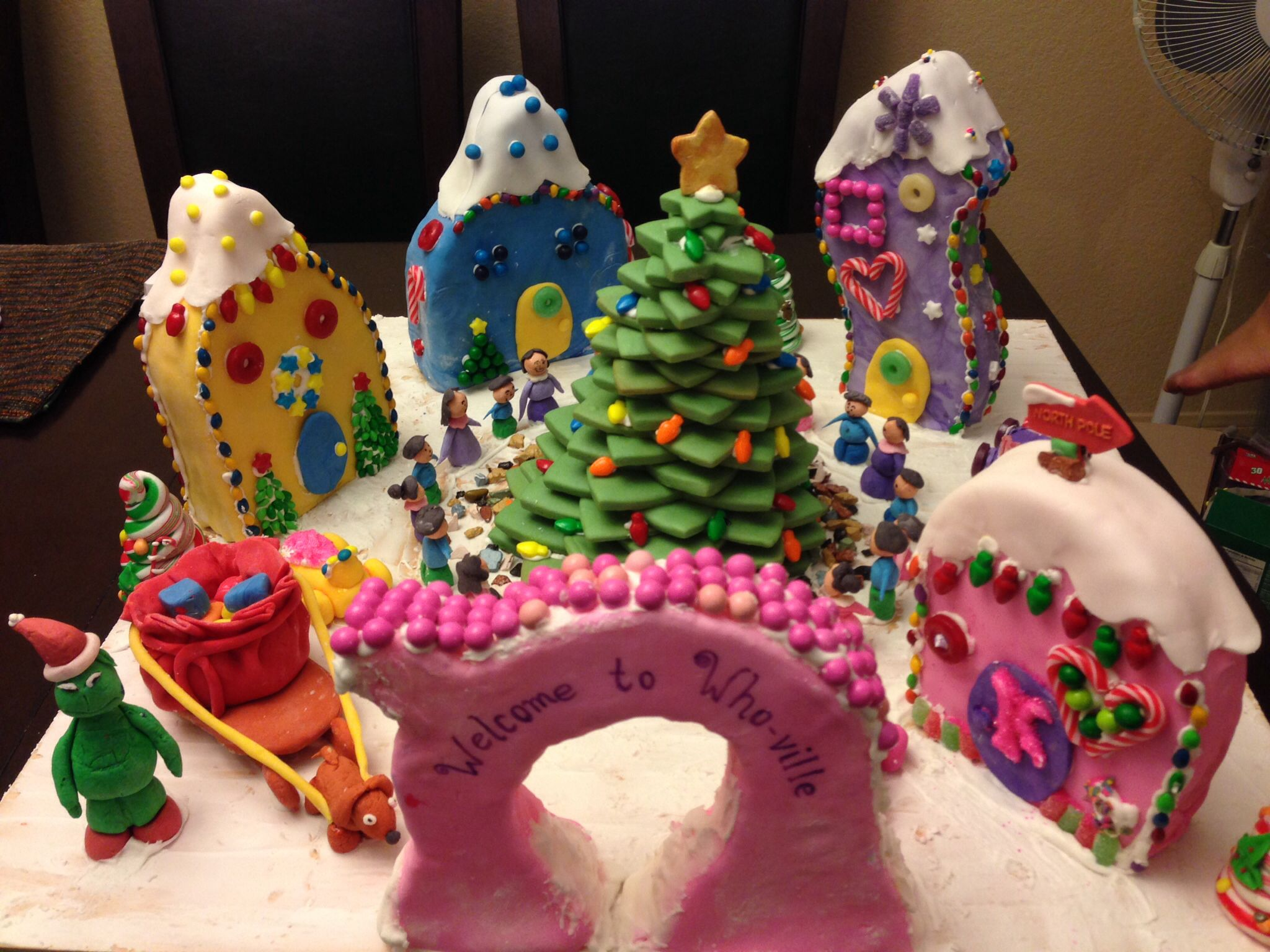 grinch gingerbread house template  Our Whoville Gingerbread house | Gingerbread village ...