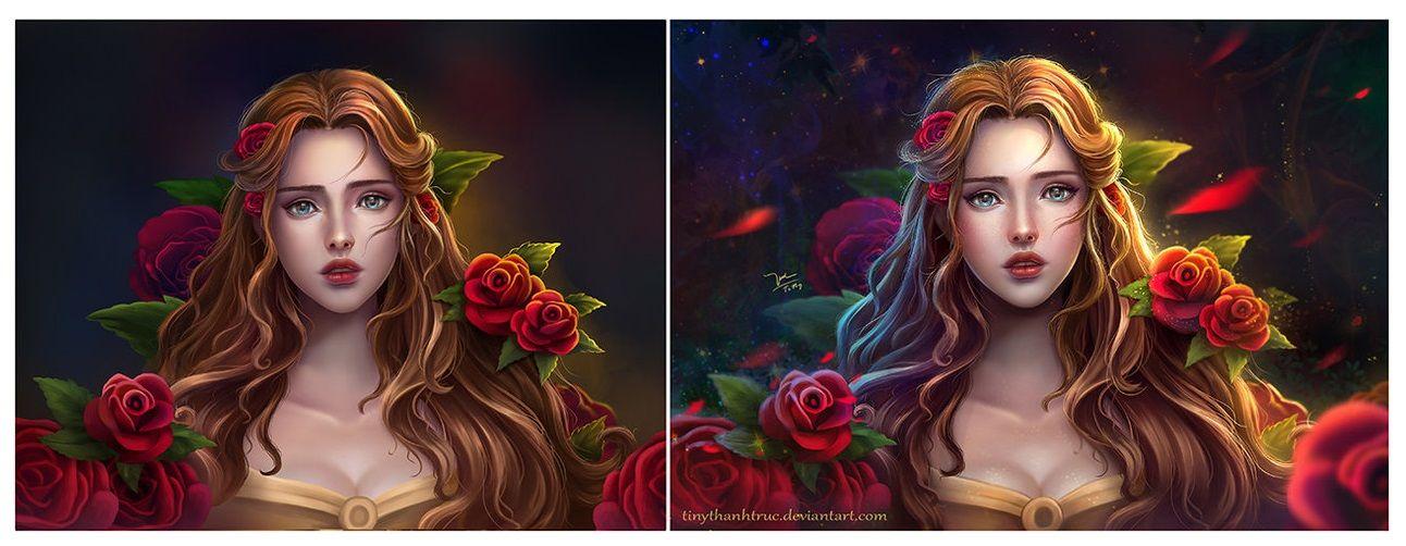 a Bela e a Fera que linda!! *0*