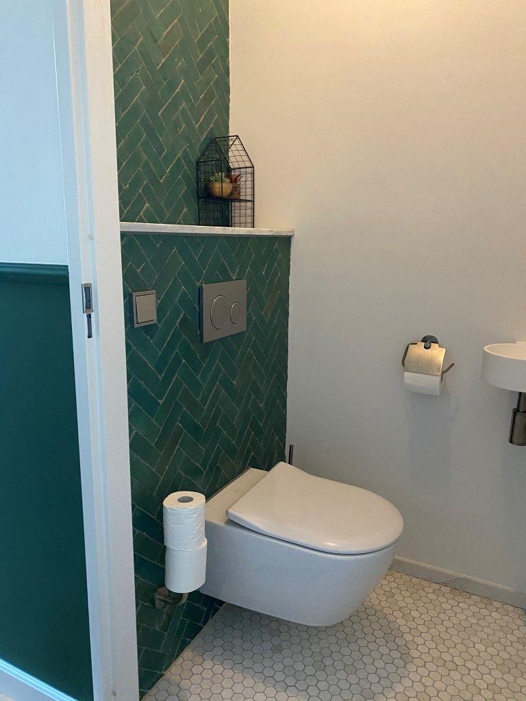 Toilet Met Groene Tegels Badkamer Groen Toilet Ontwerp Groene Badkamer