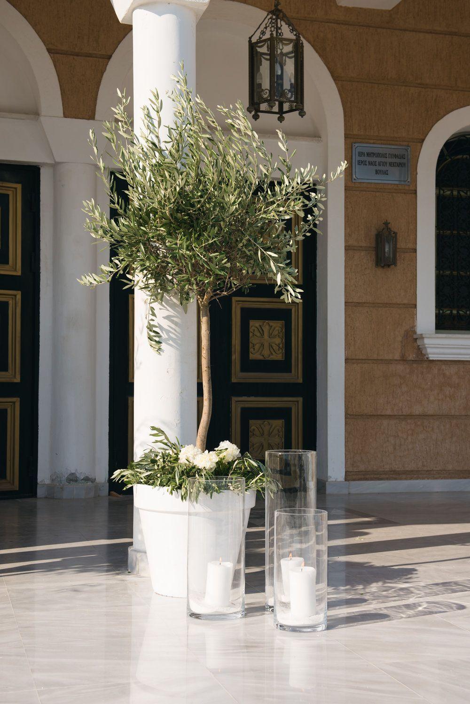 All white church wedding decor WedtimeStories Destination Wedding Wedding decoration Athens