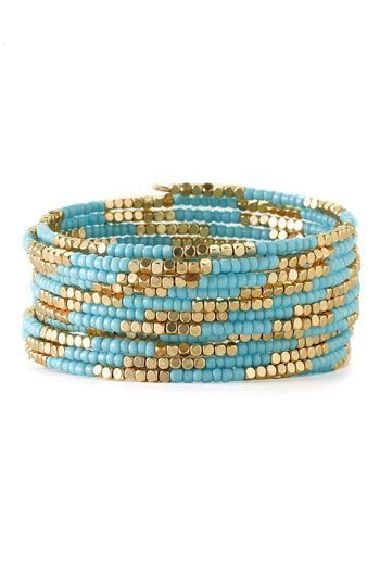 cool DIY Bijoux - Cara Accessories Beaded Coil Bracelet | Nordstrom