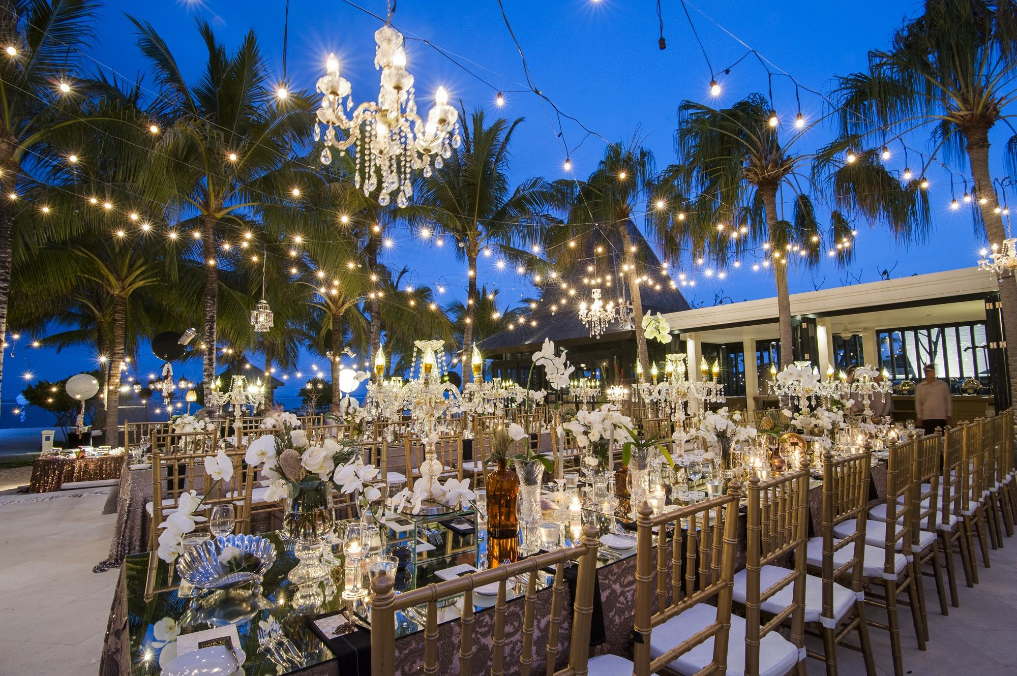 Awesome Wedding Reception in Paradise Book your dream wedding with us at www.theroyalsantrianwedding.com The Royal Santrian Luxury Beach Villa , Tanjung Benoa Bali