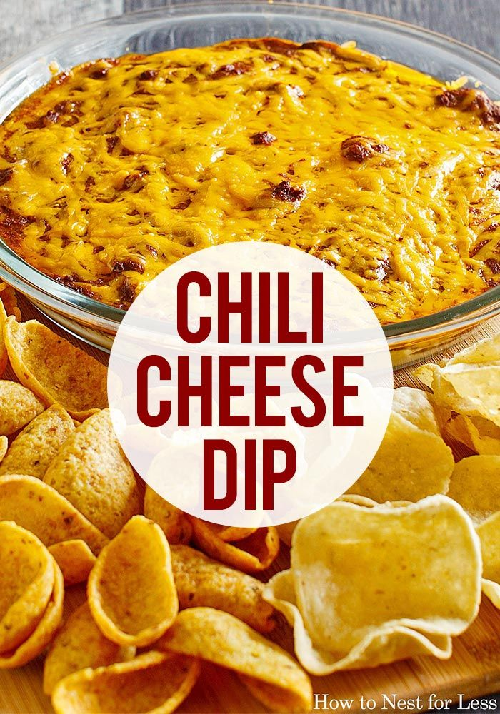 Chili Cheese Dip #dipsandappetizers
