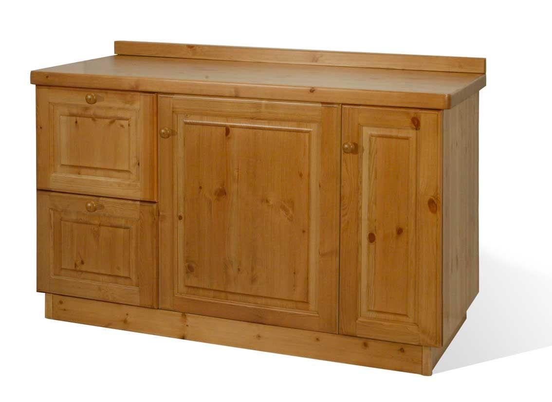 Credenza rustica in legno massiccio di pino di svezia proposta in finitura miele www - Mobili in pino di svezia ...