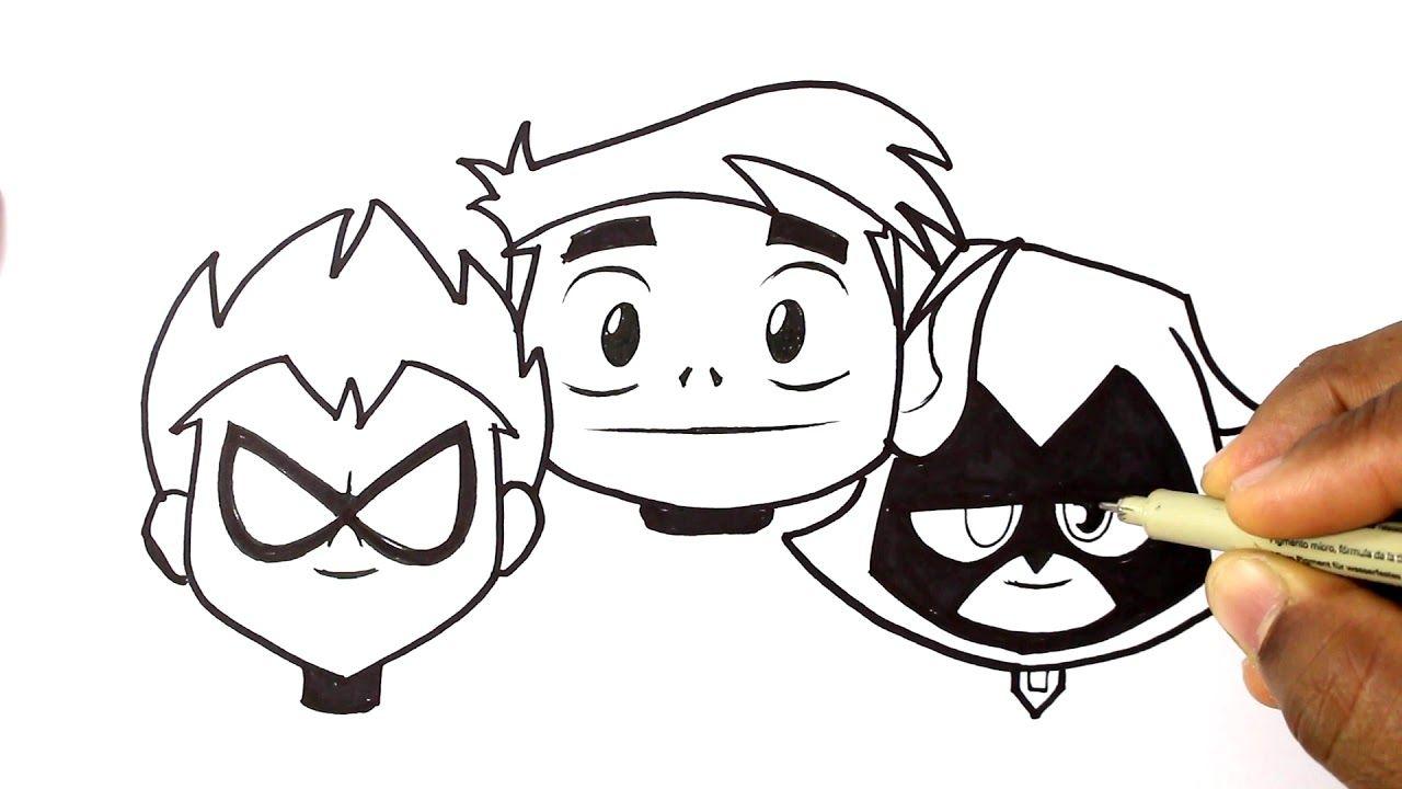 Como Dibujar Y Colorear A Robin Beast Boy And Raven Jovenes