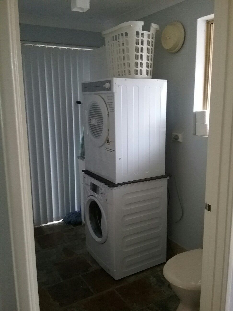 Laundry, toilet downstairs