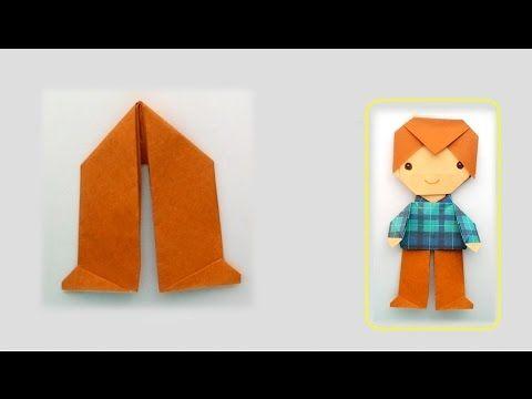 Origami Trousers...พับกระดาษ พับกางเกง - YouTube