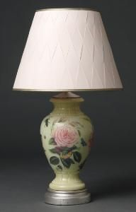 Hand Painted Decoupage Greta Lamp from www.wellappointedhouse.com