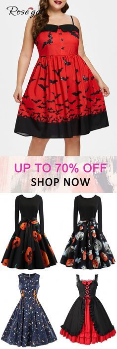 Free shipping over $45. Up to 70% off Rosegal plus size vintaeg dress Halloween…