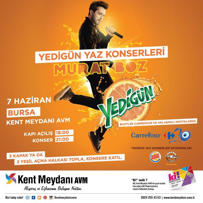 7 Haziran Murat Boz Konseri Konserler Kaptan Yaya