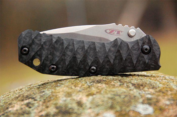 ZT 0550 custom Carbon Fiber scale Kershaw ZT knives and tools