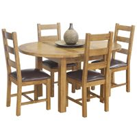 Pleasant Rustic Oak Round Dining Table 4 Chairs Rustic Canterbury Andrewgaddart Wooden Chair Designs For Living Room Andrewgaddartcom