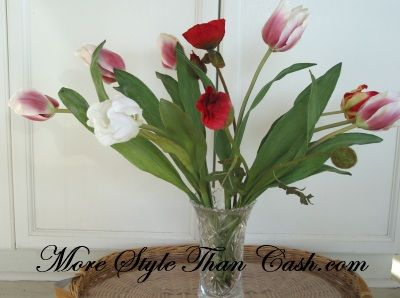 How To Make Fake Flowers Look Real Www Morestylethancash Flower Arrangementsfaux