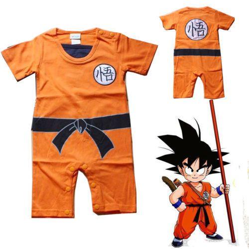 Baby Kid Toddler Boy Dragon Ball Goku Onesie Jumpsuit Romper Fancy Dress  Costume b4c1b87af0df
