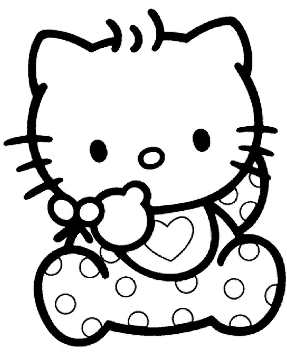 Dessin a colorier gratuit a imprimer dessins colorier imagixs hello kitty pinterest - Hello kitty a imprimer ...