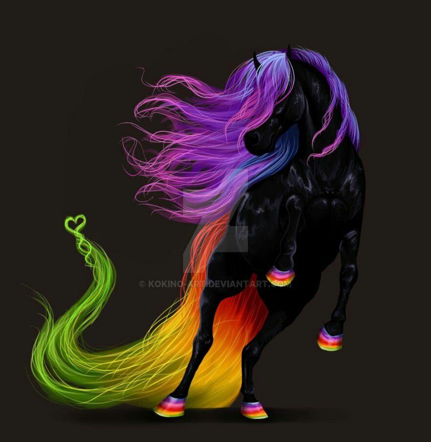 kunst paarden galaxy paarden