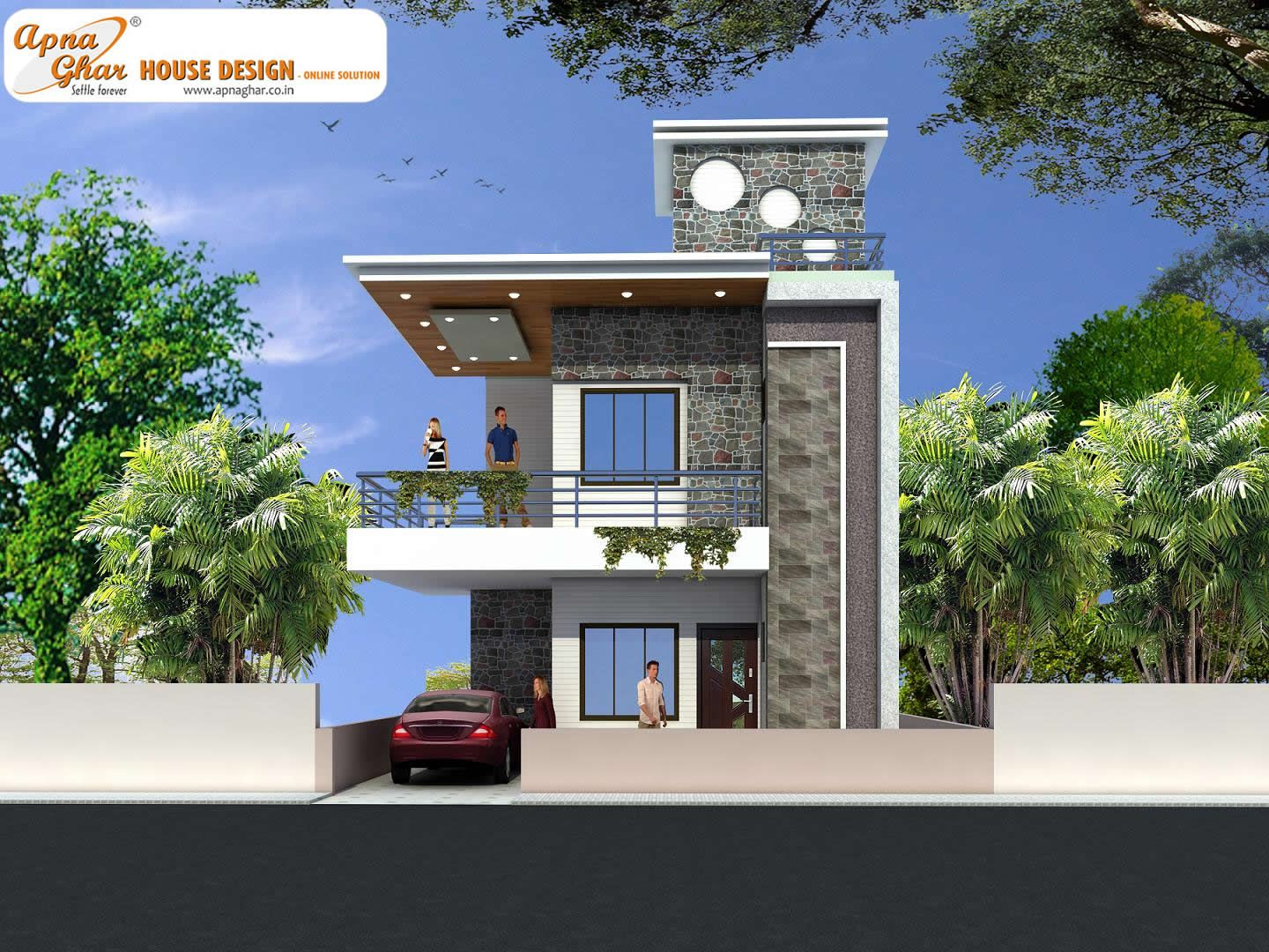 Modern duplex house design in 126m2 9m x 14m like share for Contemporary duplex plans