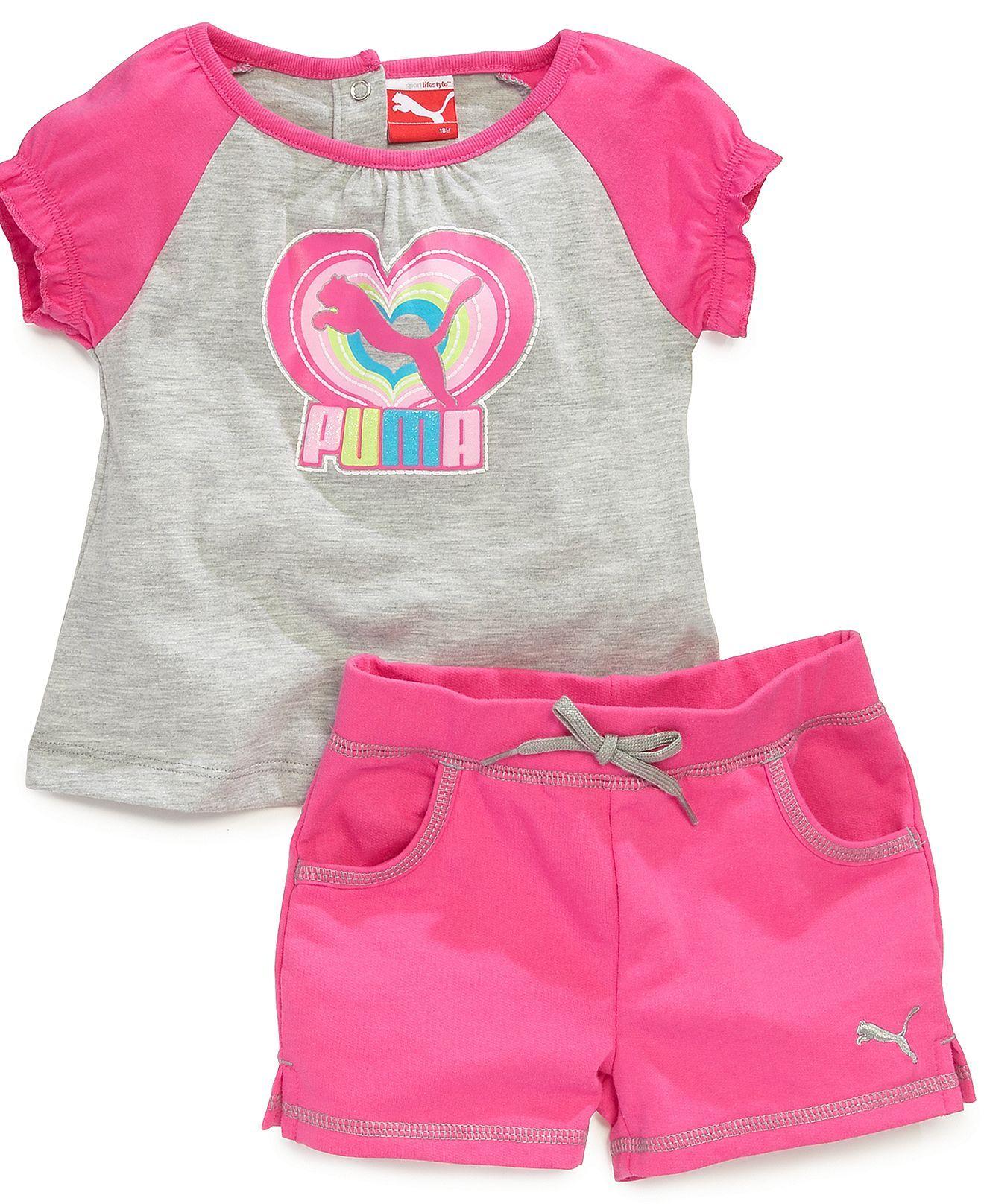 Puma Baby Girls 2 Piece Shirt & Shorts Set Kids & Baby Macy s