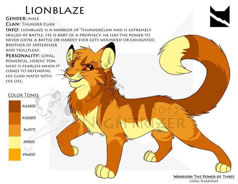 Lionblaze Character Sheet Warrior Cats Warrior Cats Books Warrior Cats Art