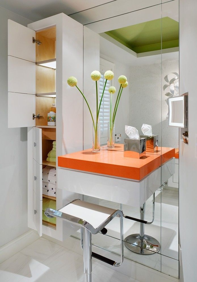 Inspired Lighted Makeup Mirror In Bathroom Modern With Vanity Next To Table Alongside Vanities For Small Bathrooms And Linen