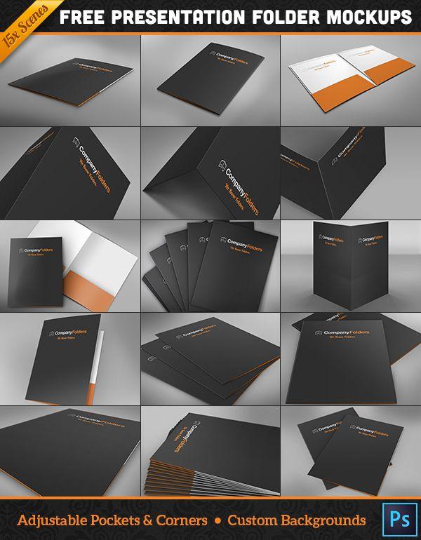 Free Download 15 Folder Design Mockup Templates For Photoshop Presentation Folder Presentation Folder Design Graphic Design Freebies