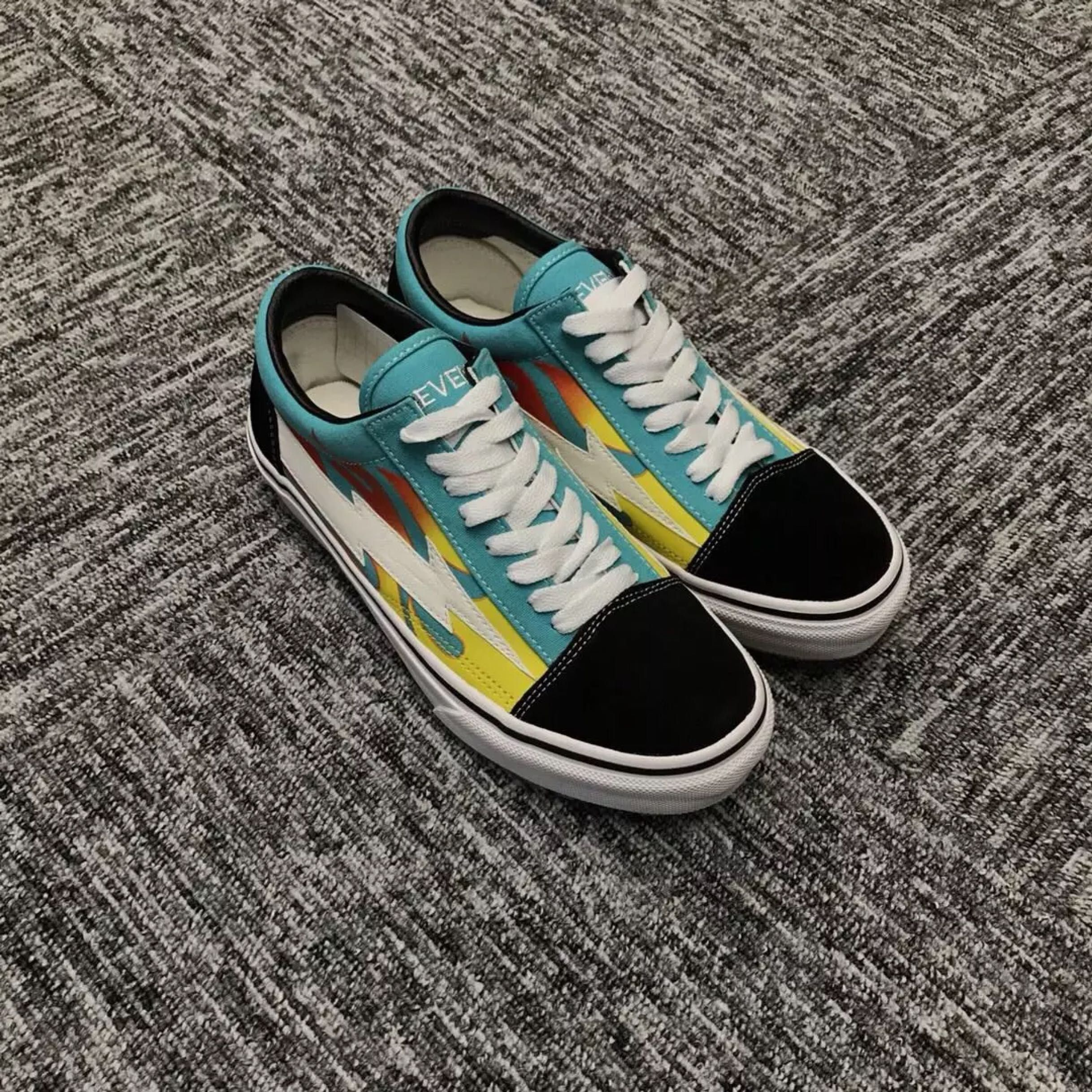 VANS OLD SKOOL REVENGE X STORM BLUE YELLOW FLAME REVS 010