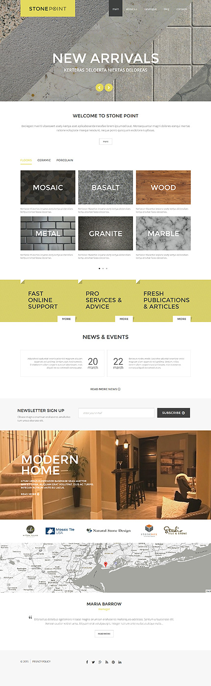 Stone Point Interior Furniture Joomla Template Themes Business Responsive