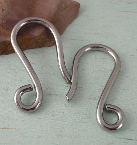 10 Gauge Ear Wires Handmade Stainless Steel 1 Pair For Piercings Body Jewelry Piercing Gauged Earrings Wire Earrings