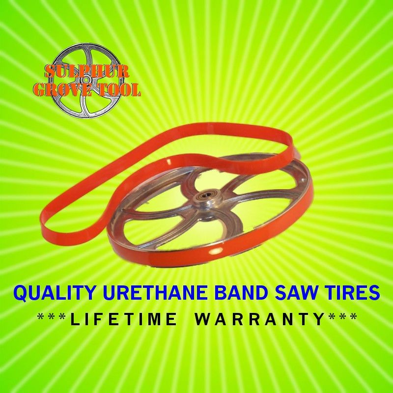 """Delta 28-160 10/"""" Urethane Band Saw Tires replaces 3 OEM parts 1320607 USA Made"""