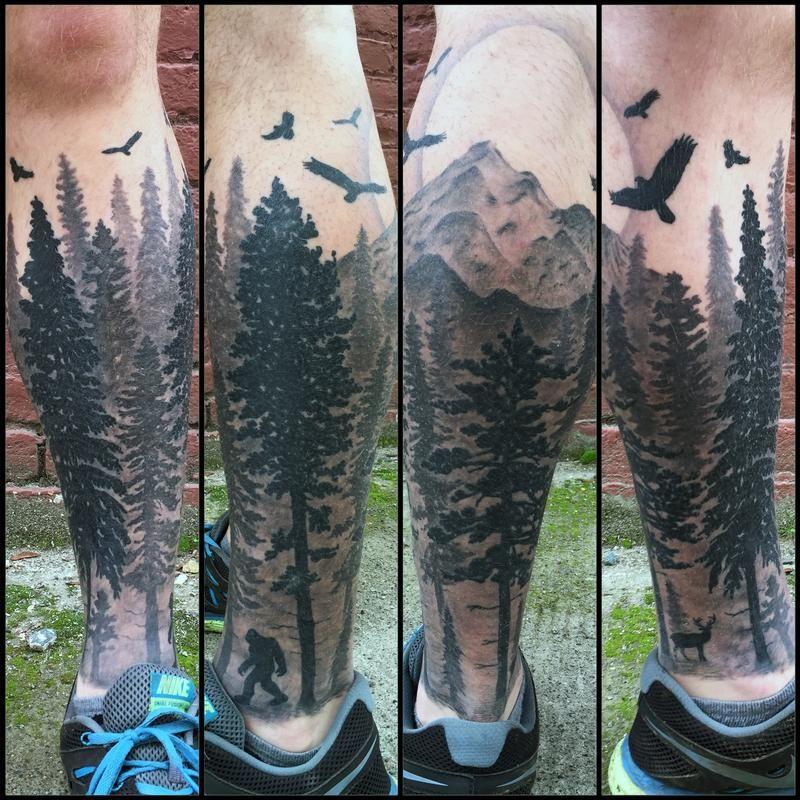 Pacific Northwest Tattoo By Nic Lebrun Pacific Northwest