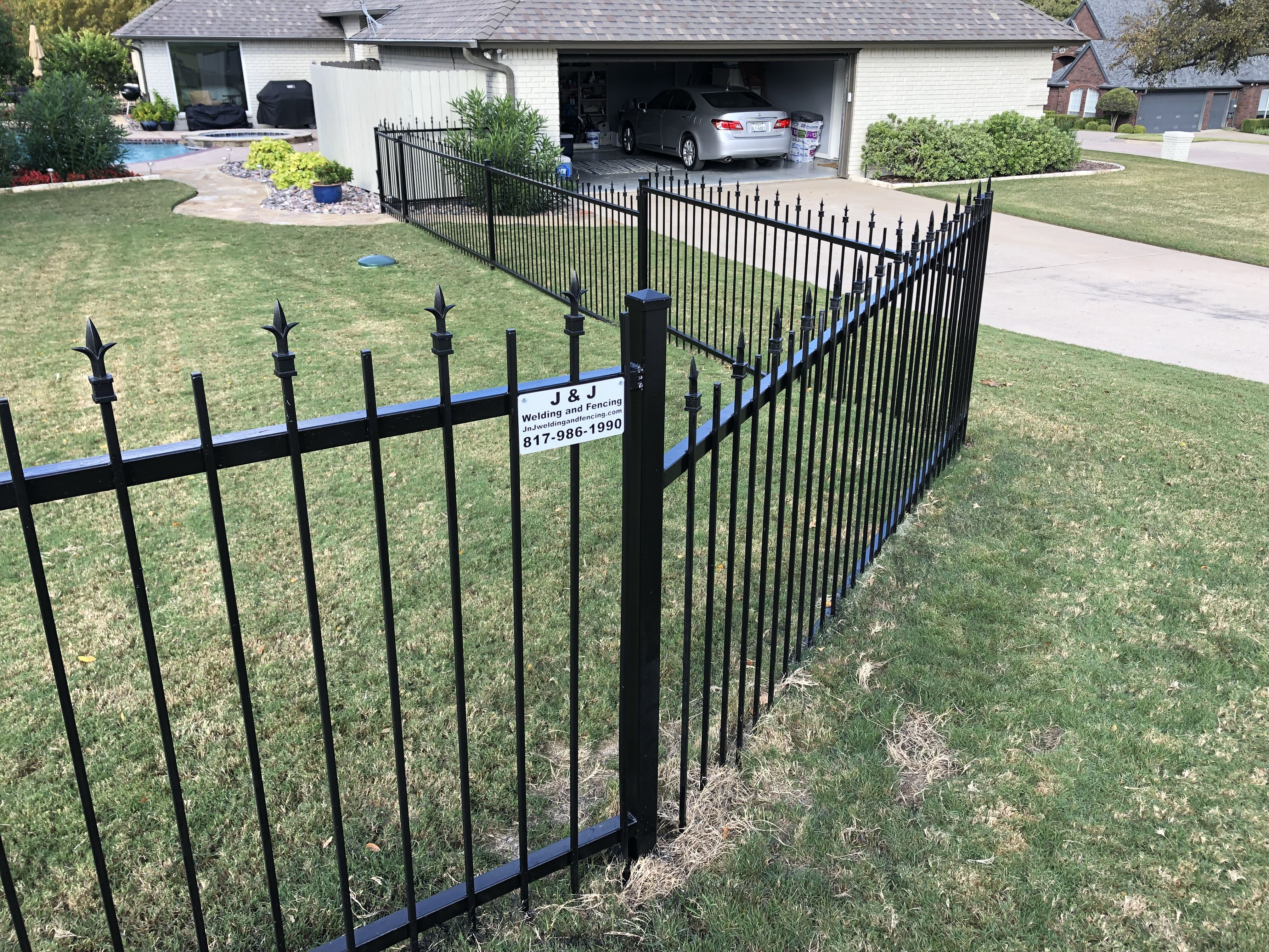 We Replaced Parts Of A Forged Iron Fence Damaged By Rust And Repainted 300ft
