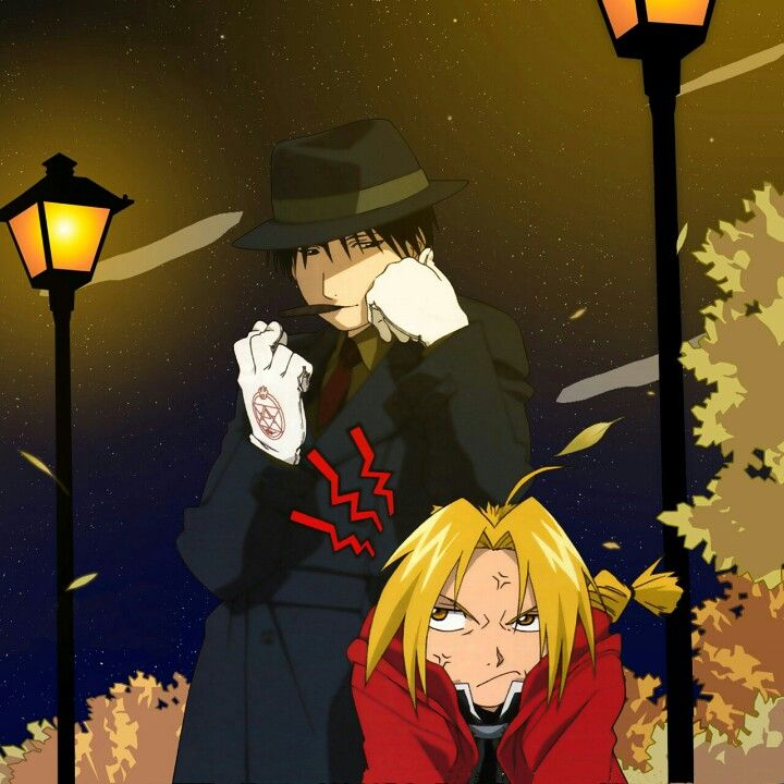 Roy Mustang and Edward Elric. Ahhhh the joys of the tall people