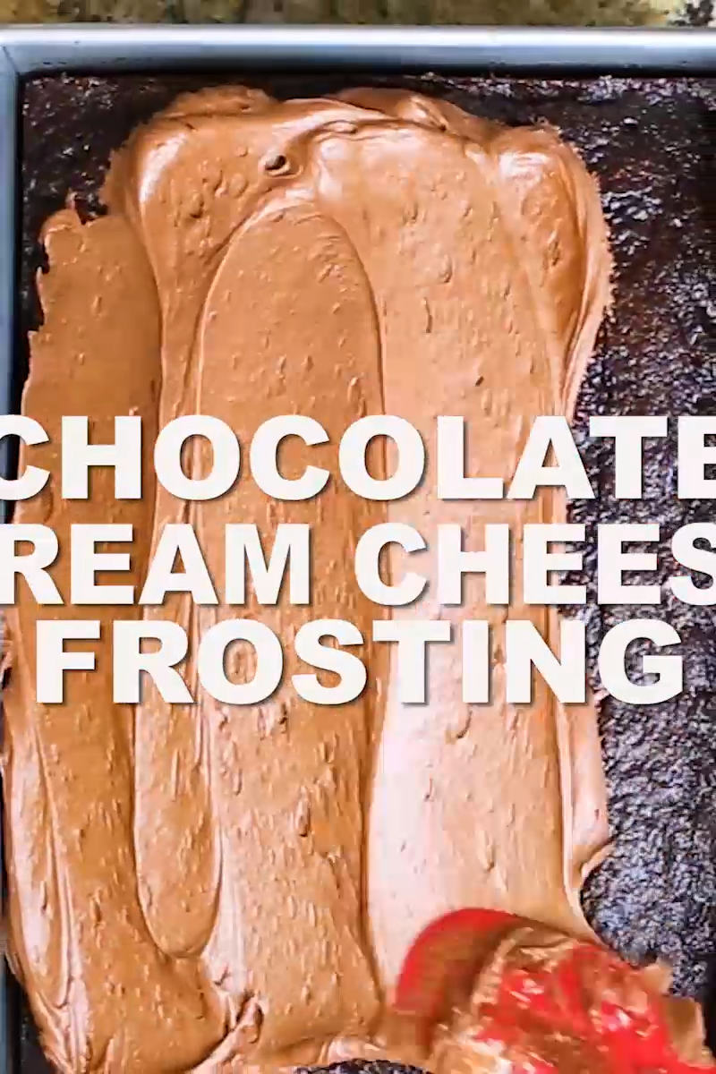 Chocolate Cream Cheese Frosting #creamcheesefrosting