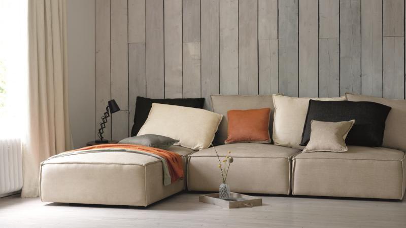 Divano su misura con penisola tessuti villa nova divano