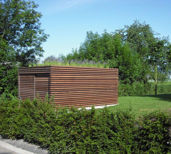 Gartenhaus Mit Dachbegrunung Gartenhauser Pinterest